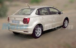 Новый седан Volkswagen Ameo для Индии