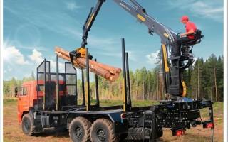 Характеристики гидроманипуляторной установки ВЕЛМАШ VM10L74 для леса на КАМАЗ и сфера применения