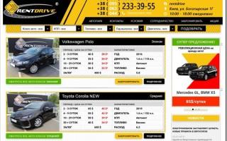 Описание услуг проката авто в Киеве rentdrive.ua
