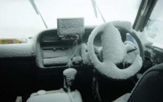 """Зимняя """"реанимация"""" автомобиля!"""