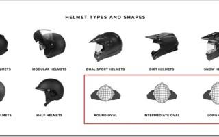 Как подобрать мотошлем по размеру головы