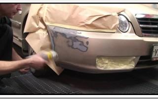 Как покрасить бампер автомобиля своими руками