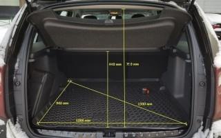 Размеры и габариты багажника Рено Дастер: объем багажника Рено Дастер в литрах