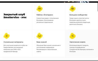 Обзор сайта и услуг компании smoservice.club
