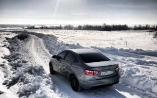 Лайфхак: как ведет себя зимой Лада Веста