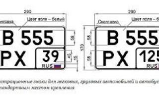 Особенности замены автомобильных номеров на знаки нового образца