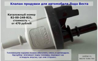 Чек-лист: Адсорбер автомобиля Веста — неисправности, установка