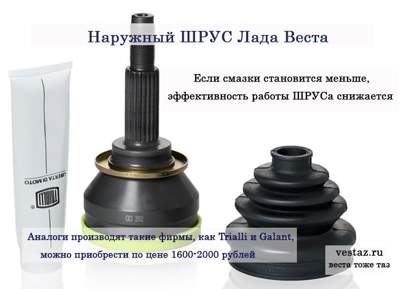 """Наружный ШРУС Лада Веста """"граната"""""""""""