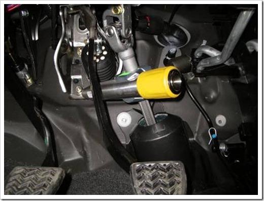 Куда устанавливается блокиратор рулевого вала?
