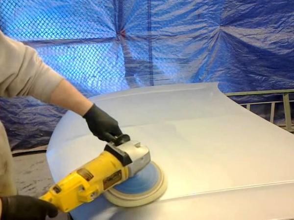Как убрать подтеки краски на авто