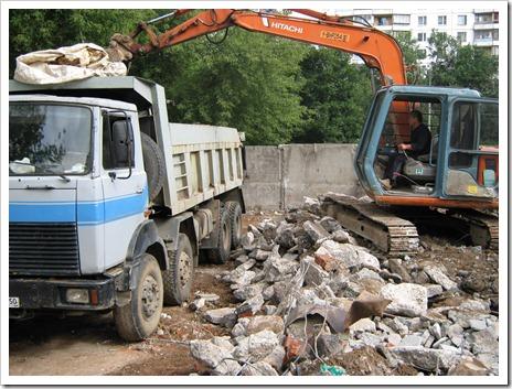 Отсутствие проблем с утилизацией строительного мусора