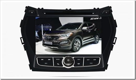 Штатные головные устройства для Hyundai Santa Fe 2012-2016